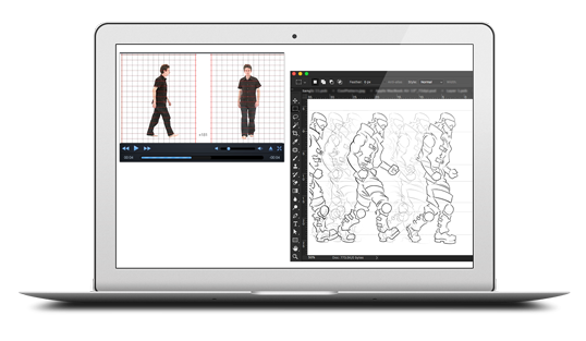 image of tracking sketch with reference