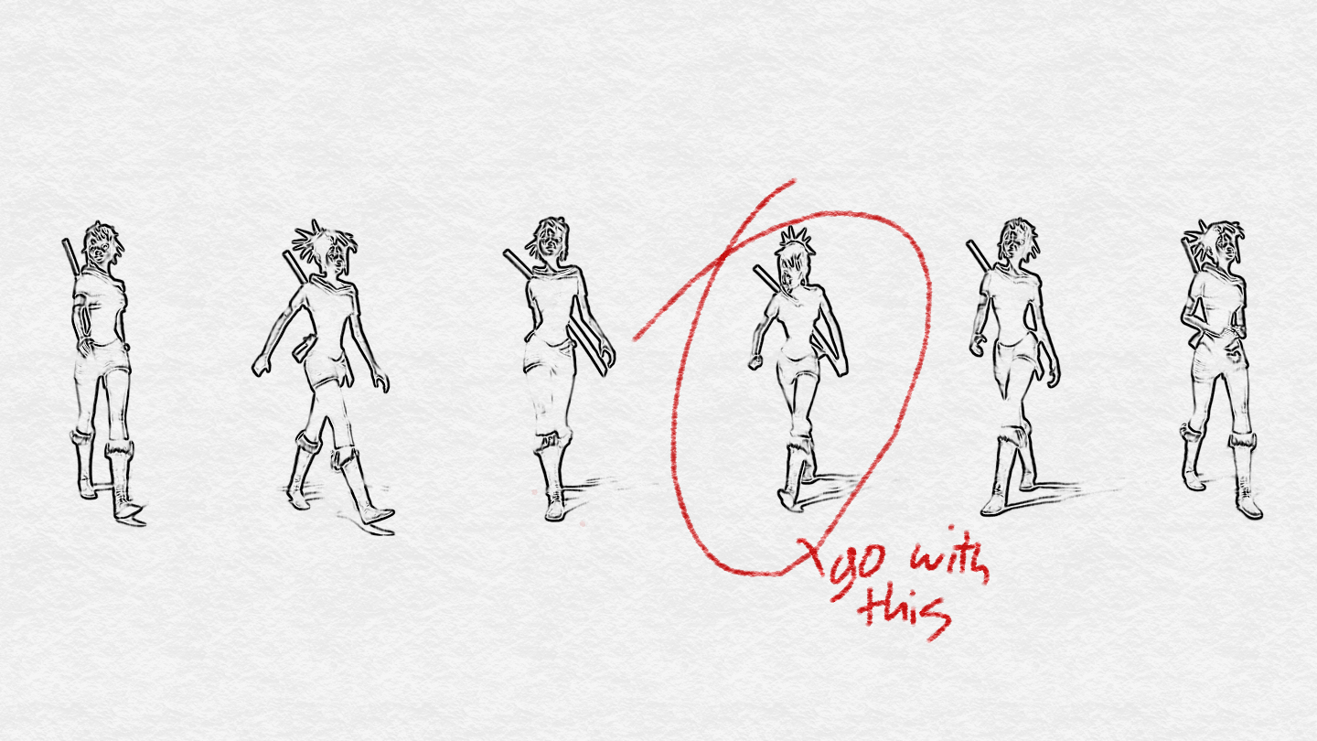 Selecting a pose - image